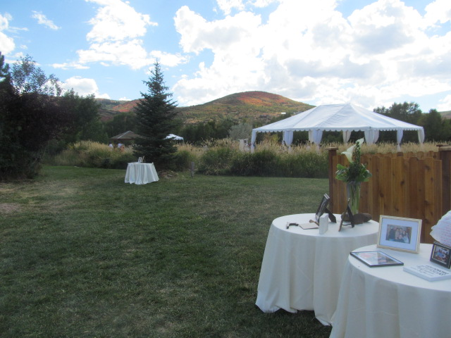 wedding, mountain views, farm pasture gazebo